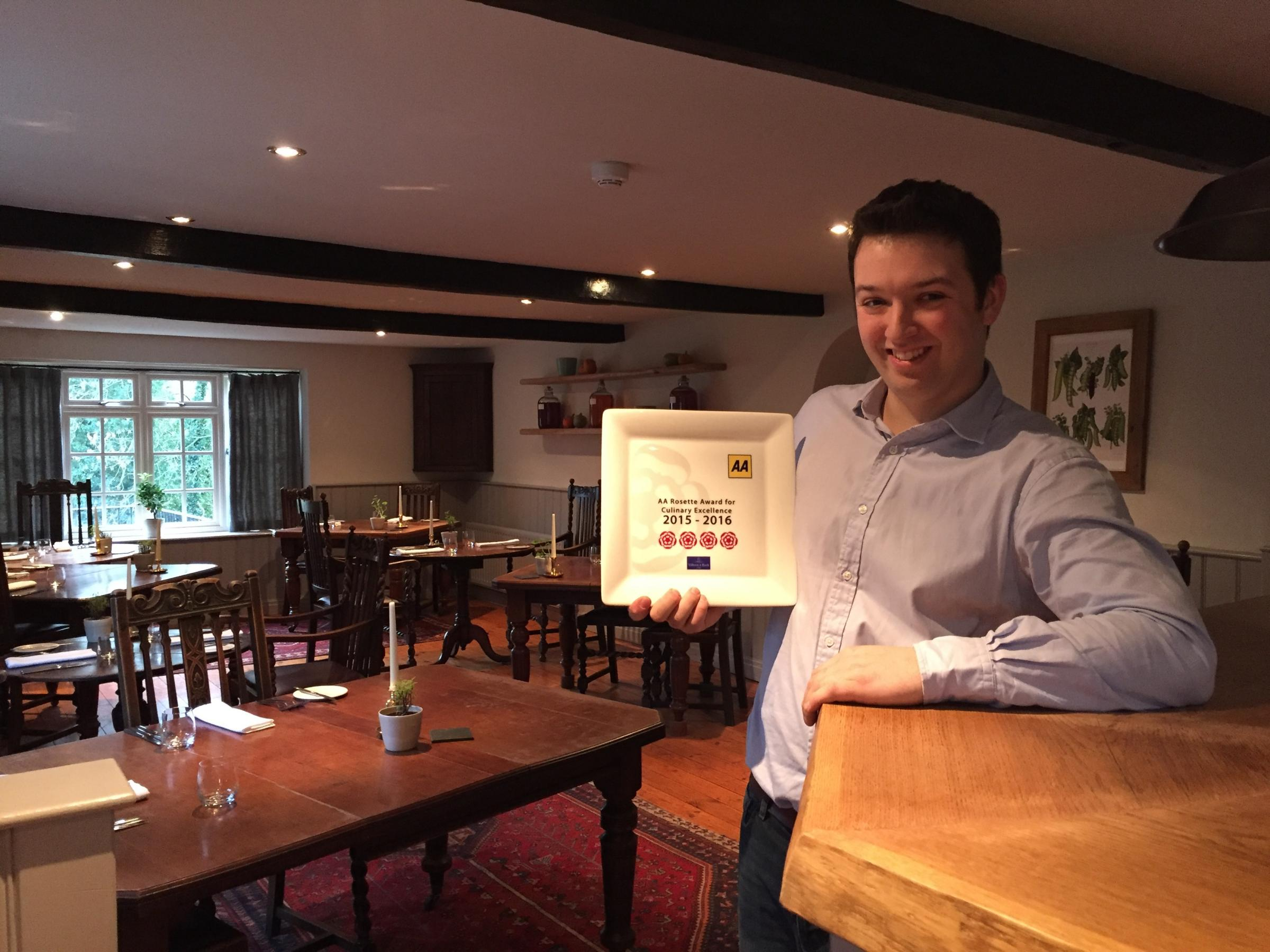 Tommy Banks, head chef at The Black Swan at Oldstead, which has been named the world's best rated restaurant, according to annual TripAdvisor awards