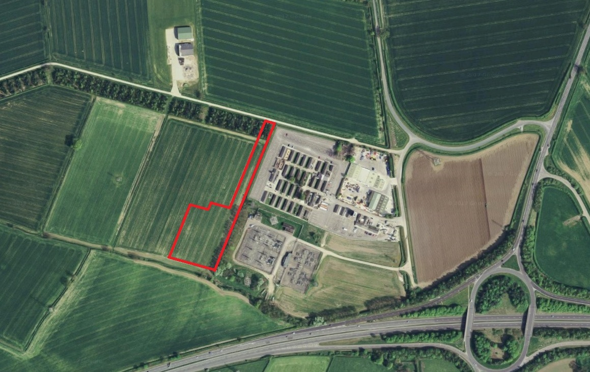 Approximate extent of the proposed new power-plant off Freehold Lane, Malton. Picture: Google Maps/Infoterra Ltd and Bluesky.