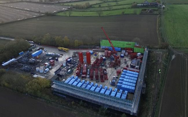 Drone shot of the KMA fracking site near Kirby Misperton. Picture: KM Protectors