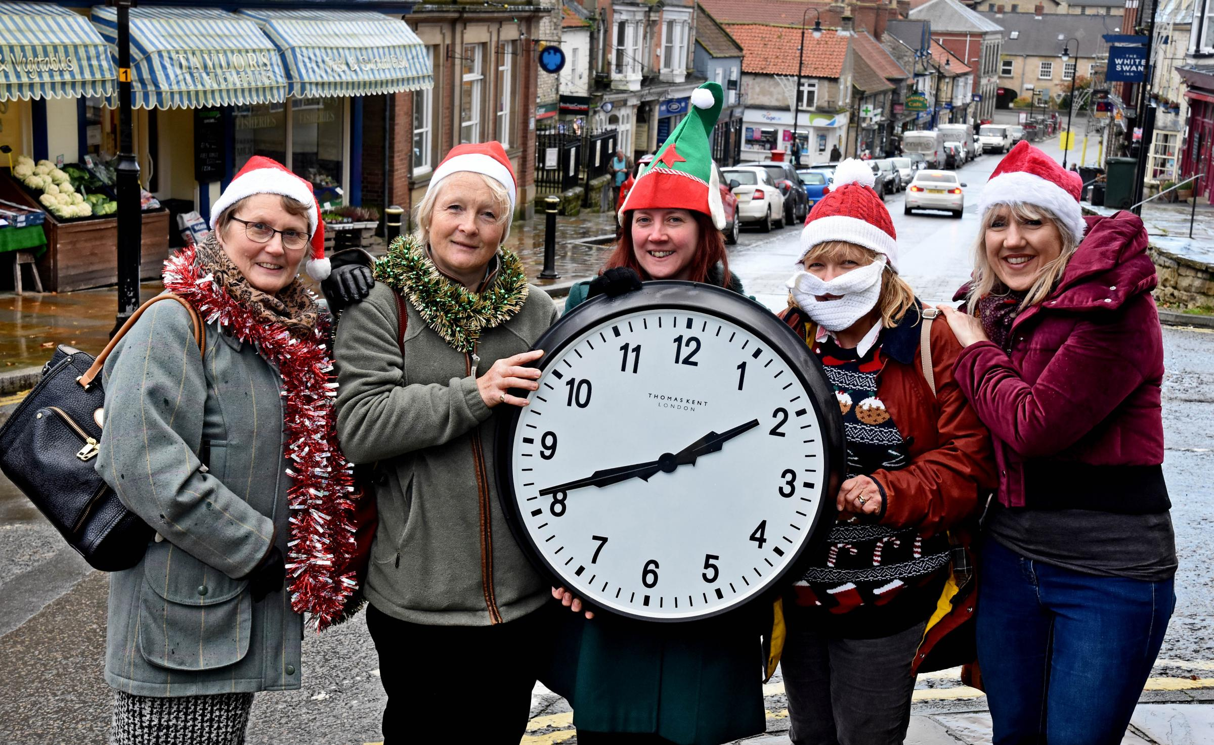 Give a Gift of Time Appeal fundraisers (left) Isabelle Harrison,Carol Stevens,Claire Hall,Gill Gibbeson (correct) and  Sarah Lalley-Marley at Pickering.Pic Nigel Holland
