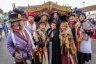 Hardcastle's Mighty Excelsior Theatre Company get ready for their performance at this weekend's Dickensian Festival Picture: TonyBartholomew