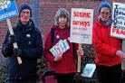 Anti-fracking protesters campaigning in Malton last Thursday    Picture: Nigel Holland