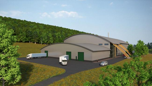 An artist's impression of the new green energy power facility at West Knapton