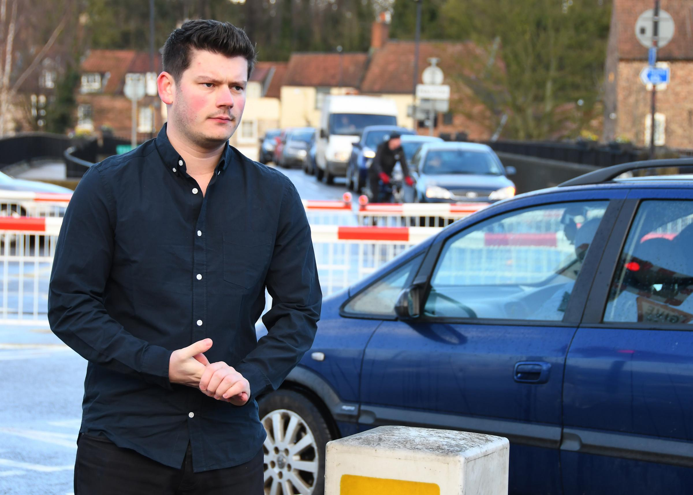 County Councillor Keane Duncan who has branded the HGV ban over the level crossing between Malton and Norton a 'failure'