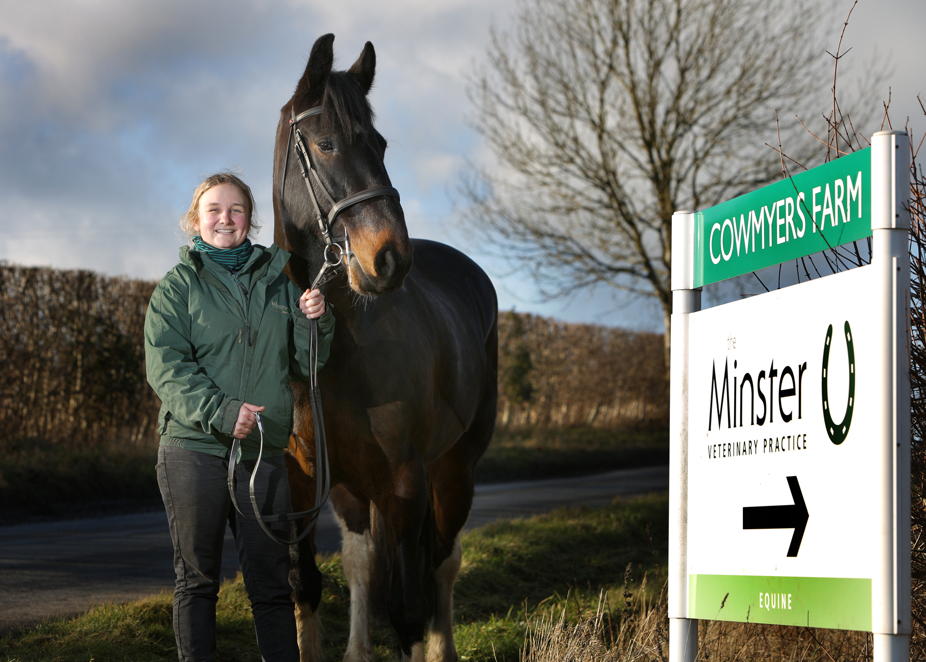 Katie Brickman, Minster vet, and horse Ike. Picture: Minster Vets