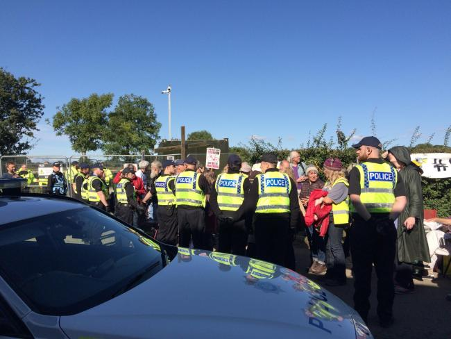Government agrees to contribute to costs of policing fracking protests