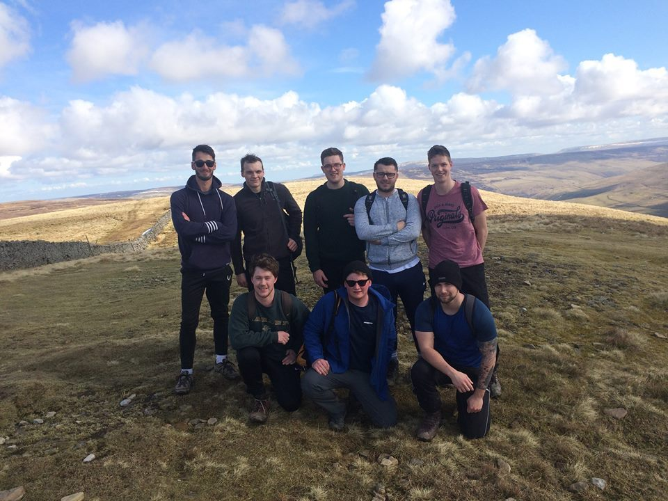 Group in training for the Yorkshire Three Peaks to raise money for the Rob Stephenson Trust.