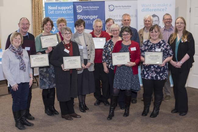Representatives of community libraries being recognised for their achievements in the Summer Reading Challenge at last year's libraries conference. Picture: NYCC