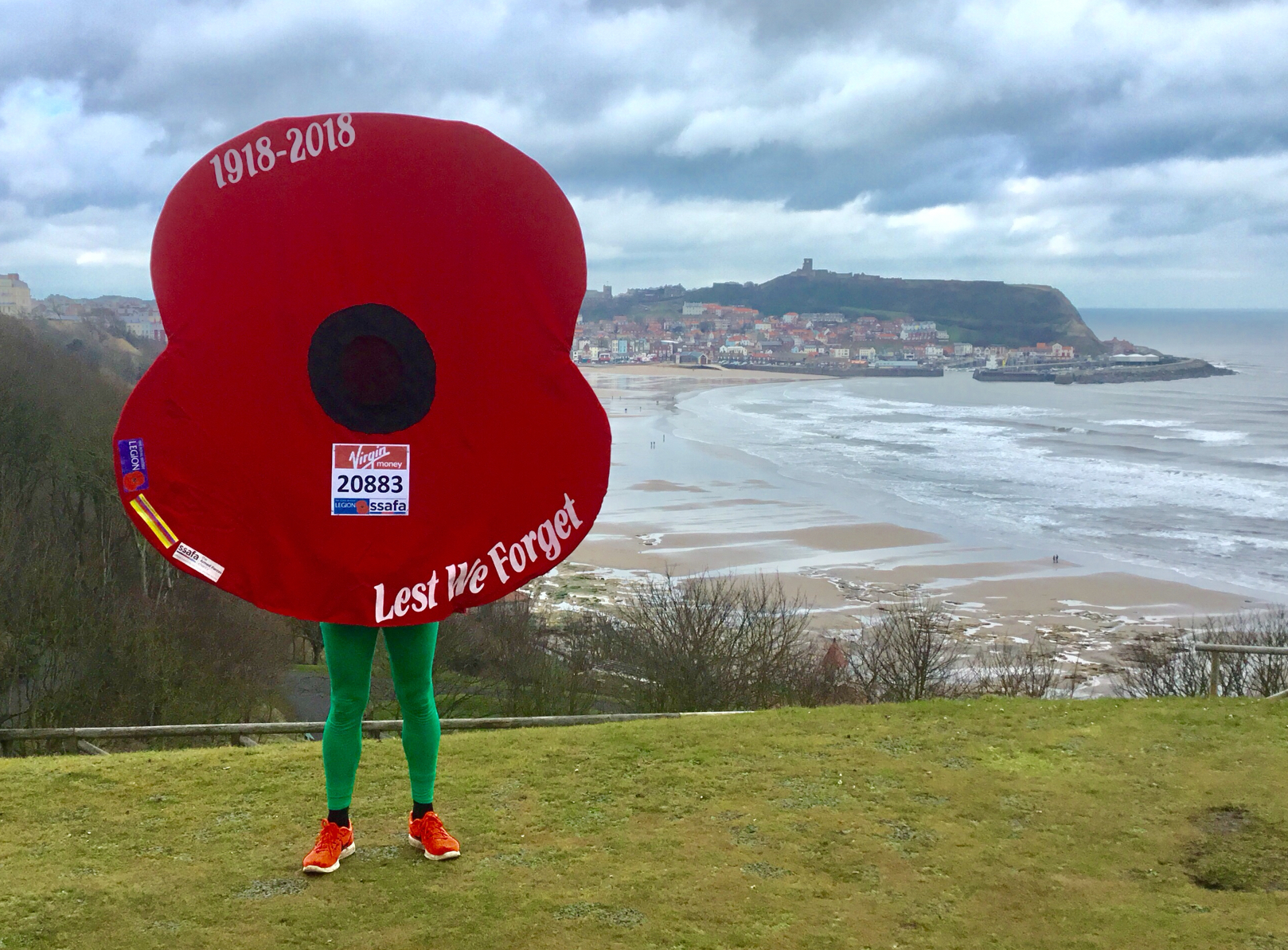 Owen Willis, formerly of Malton, who will be undertaking the London and York marathons dressed as a poppy.