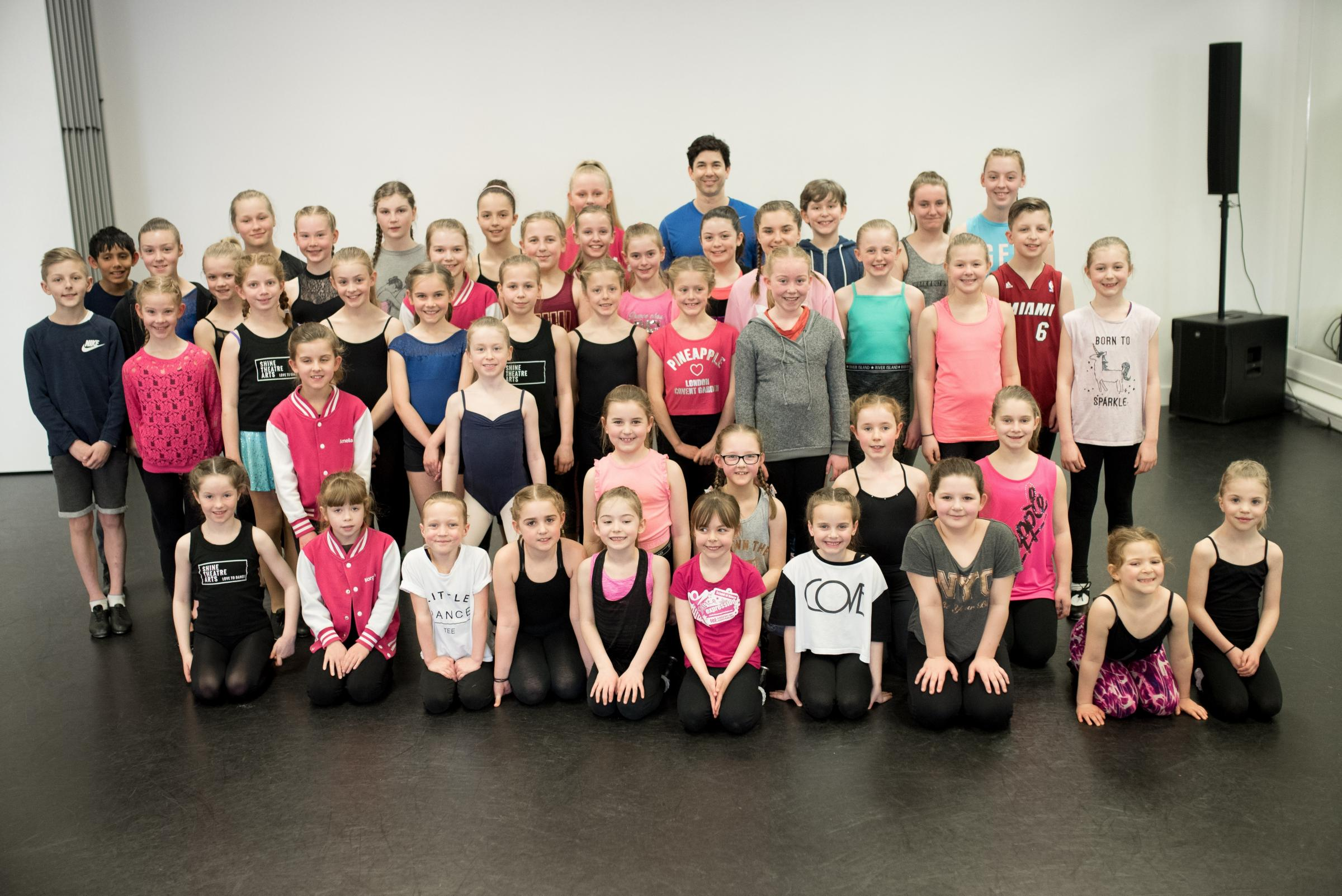 West End star and tap dancer Adam Garcia took part in a masterclass at Dance Expression in Norton.