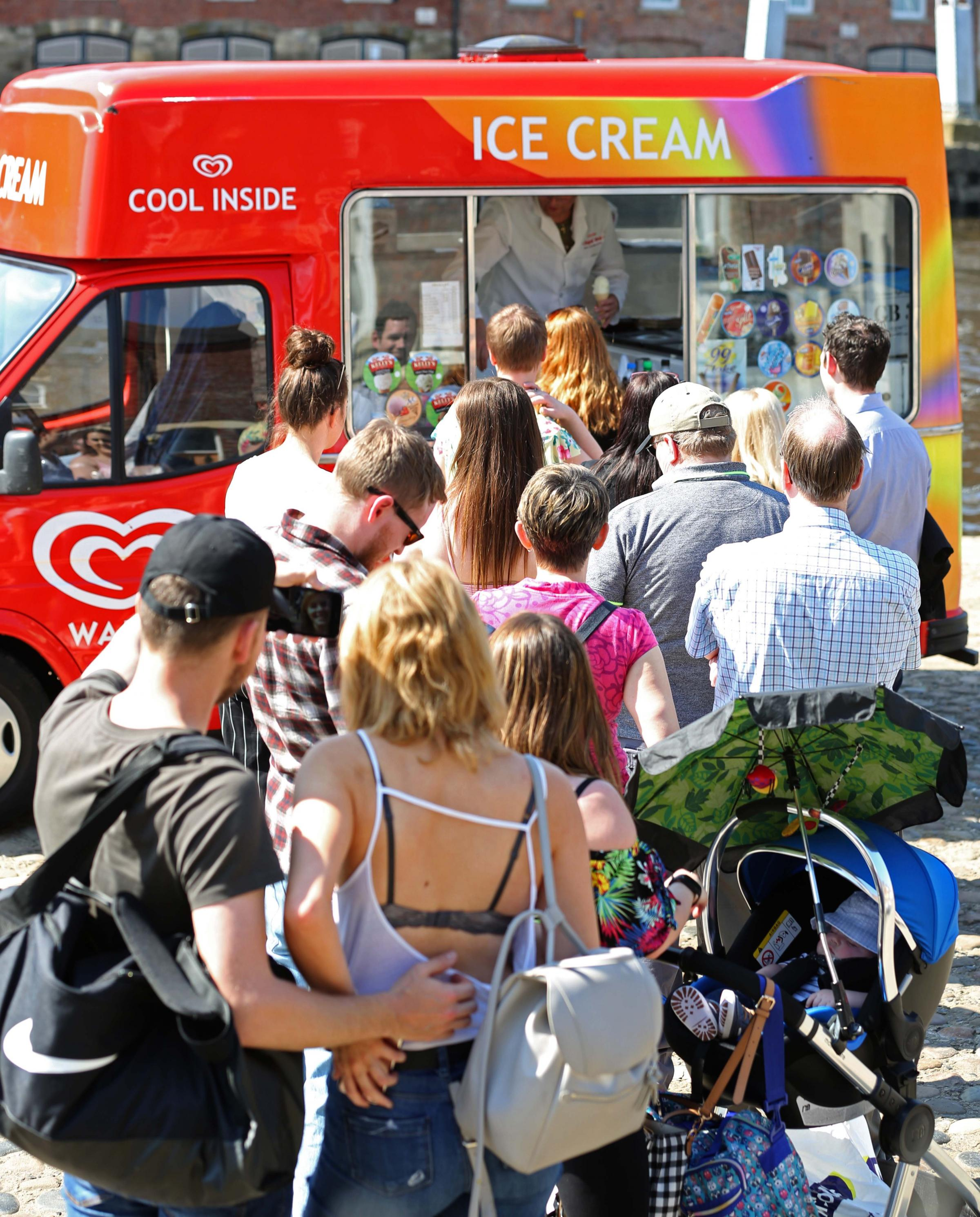 Selling ice cream in the spring sunshine.  Picture: Richard Doughty Photography