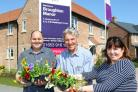 Nick Fletcher, Christopher Turner and Sue Sedman from Malton in Bloom at Taylor Wimpey's Broughton Manor