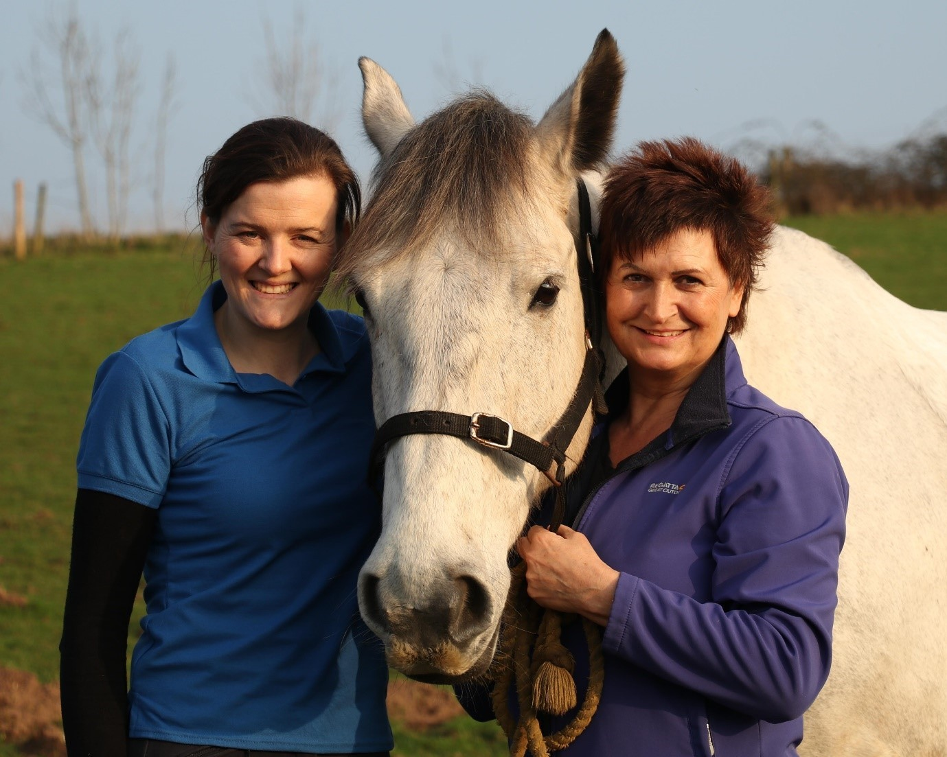 Laura Rafferty-Trow and Deane Musharbash, who are running a holistic horse camp for riders at Askham Bryan College, near York, next month                                              Picture: Mark Outterson