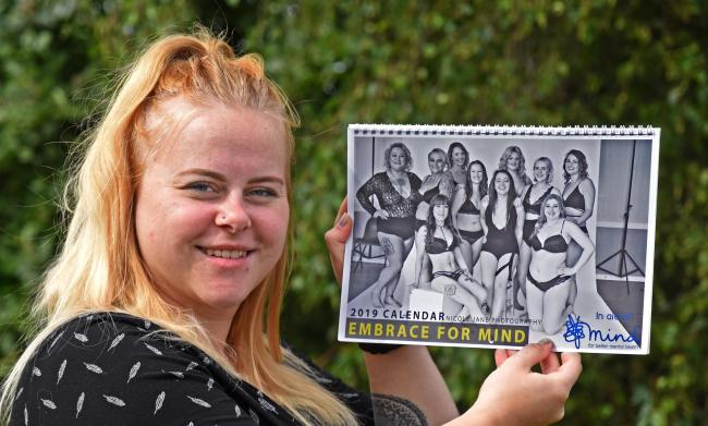 Photographer Nicole Vogwill with the calendar she has produced to help raise money for the charity Mind    Picture: Nigel Holland