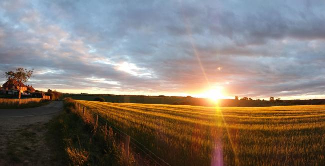 Sunset View towards Firby from Westow by Pete Lamb, Kirkham View