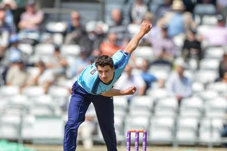 Yorkshire's Matthew Fisher was among the wickets against Somerset