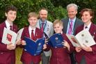 Members of Norton College with their programmes from the RAF 100th anniversary ceremony. Pictured, from left, are Sam Spencer, Kian Watson, James Wigby, Sam Havenhand, Andrew Jackson and Ruby Weatherill    Picture: David Harrison