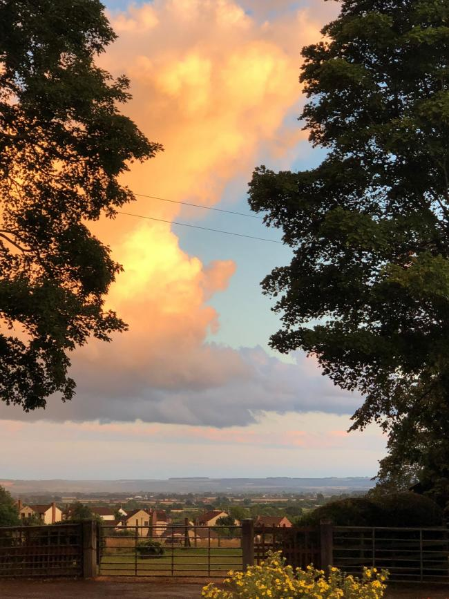View over the wolds taken from Whitby Road Pickering  by Christine Hill.