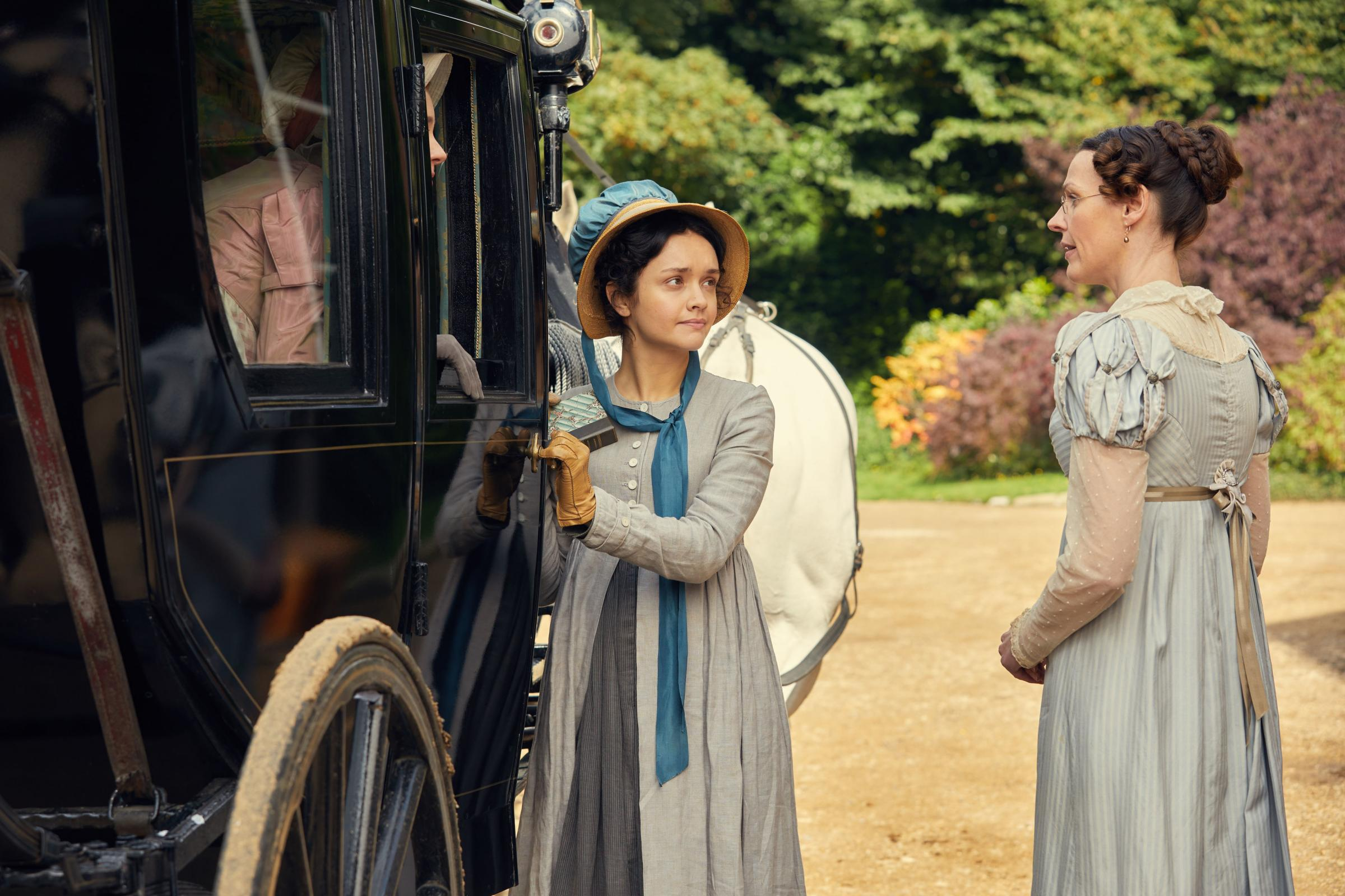 Olivia Cooke as Becky Sharp, left, and Suranne Jones as Miss Pinkerton in Vanity Fair Picture: ITV/Mammoth Screen/Robert Viglasky