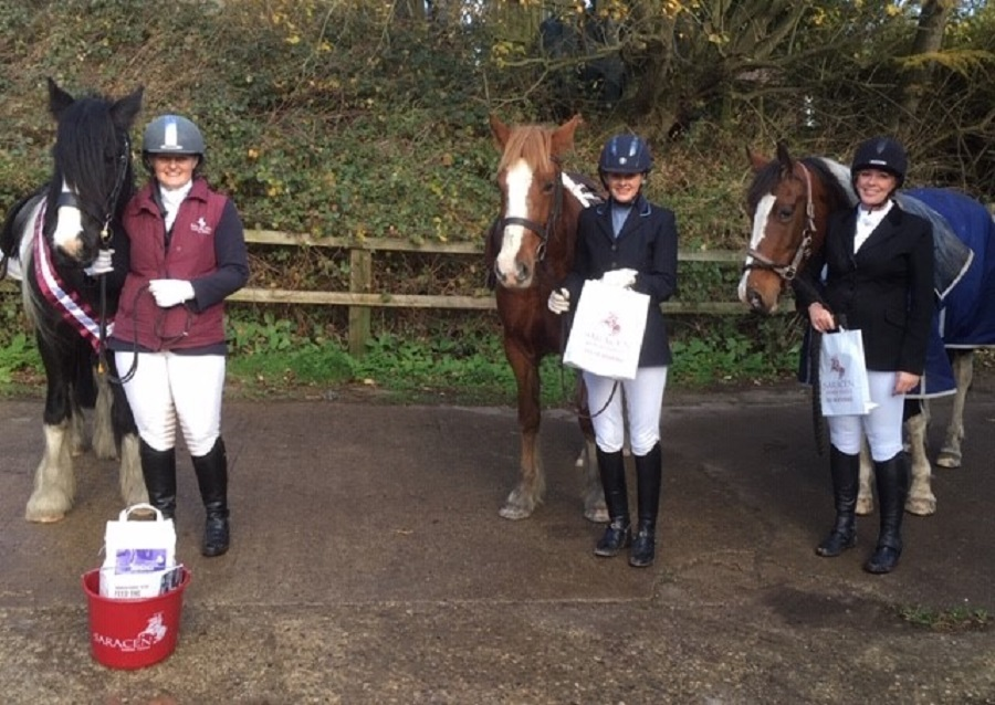 Pictured at Beckside Livery Stables, Sneatonthorpe, are intro champion Vicci Smith, second Katherine Rollinson, third Linda Winspear                                                Picture: Cara Shardlow