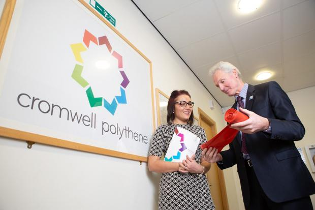 PERFECT JOB: Stacey Jackson works as Marketing Coordinator for Cromwell Polythene
