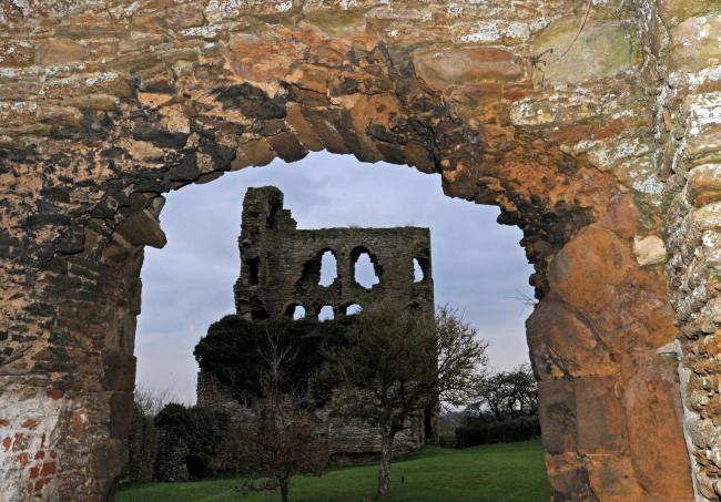 Sheriff Hutton castle, which now has new owners