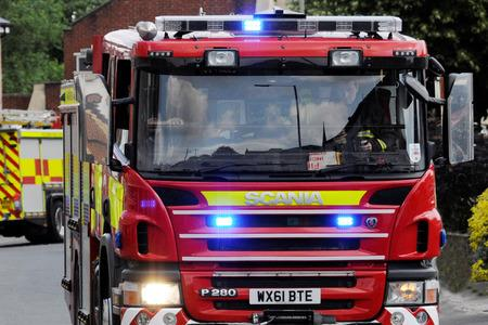 Oven catches fire in house