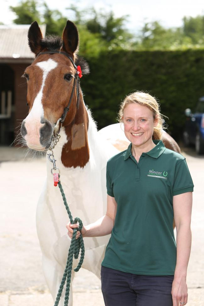 Gemma Dransfield, from Minster Equine Clinic in Norton, which is hosting an information evening with Rainbow Equine Hospital