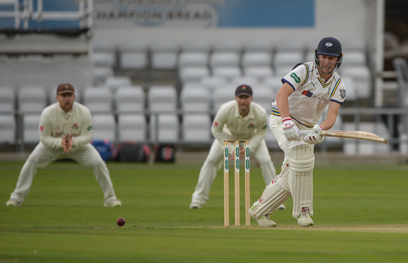 Gary Ballance hit an unbeaten 189 to help Yorkshire wrestle control from Worcestershire  Picture: RAY SPENCER
