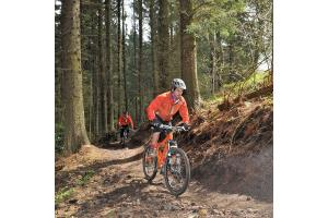 Mountain rescue team comes to aid of injured cyclist in forest