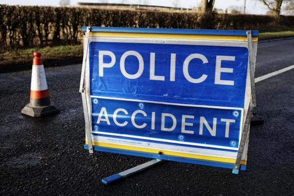 Two-car crash on the A64