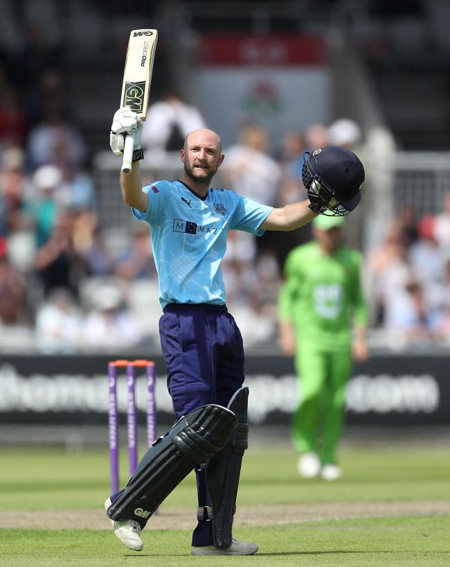 Yorkshire's Adam Lyth scored a century against Nottinghamshire
