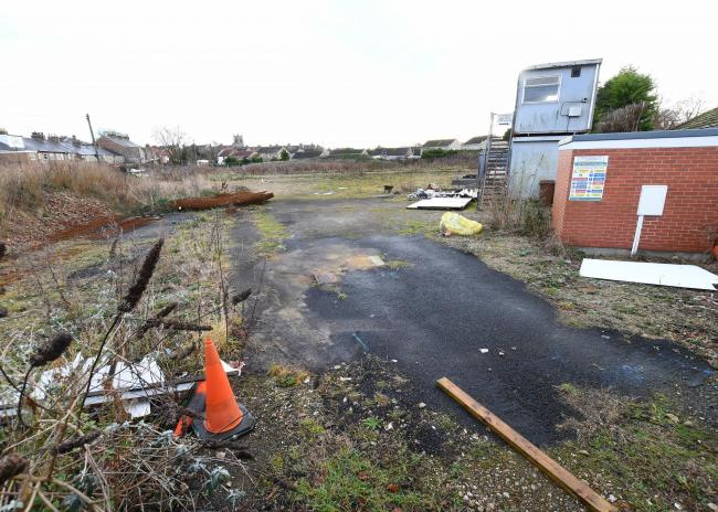 The site of the proposed BP garage and forecourt shop in Norton