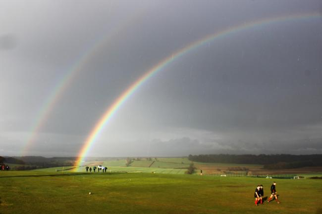 Double rainbow over Terrington Hall School    Picture: Helen Torlesse