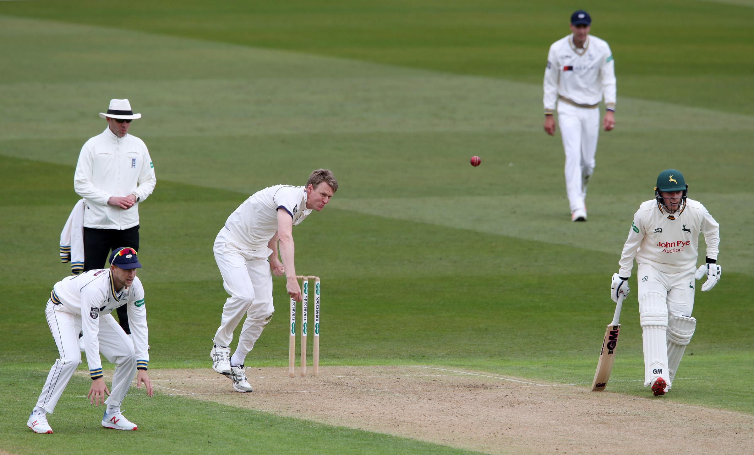 Steve Patterson starred with the ball for Yorkshire    Picture: Nick Potts/PA Wire