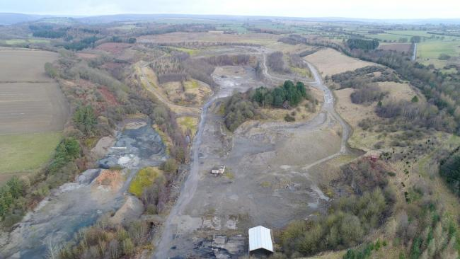 Spaunton Quarry where plans for a holiday village have been withdrawn
