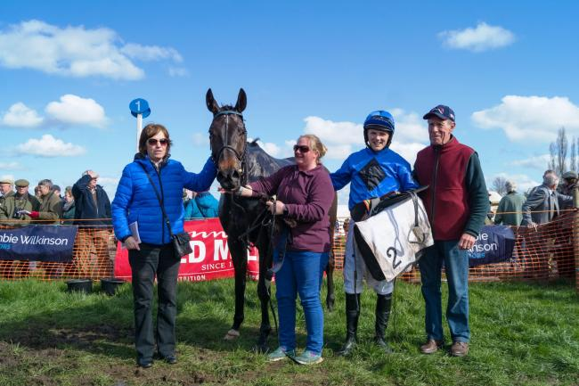 Ballyrath jockey Huw Edwards and winning connections at the point-to-point meeting at Sheriff Hutton at the weekend                                                                    Picture: Tom Milburn Photography