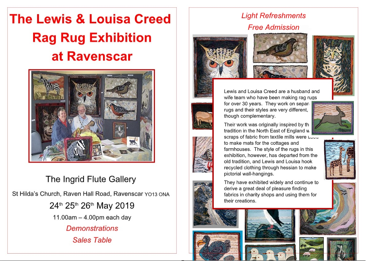 The Lewis and Louisa Rag Rug Exhibition at Ravenscar