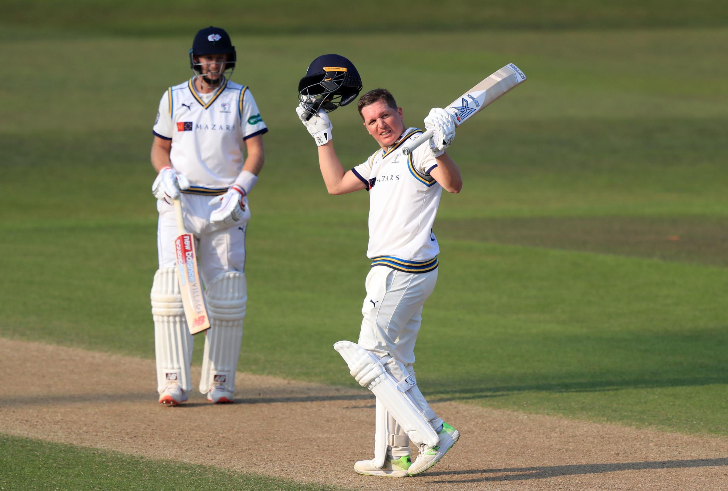 Gary Ballance scored 148 in Yorkshire's huge 554-7 declared against Hampshire