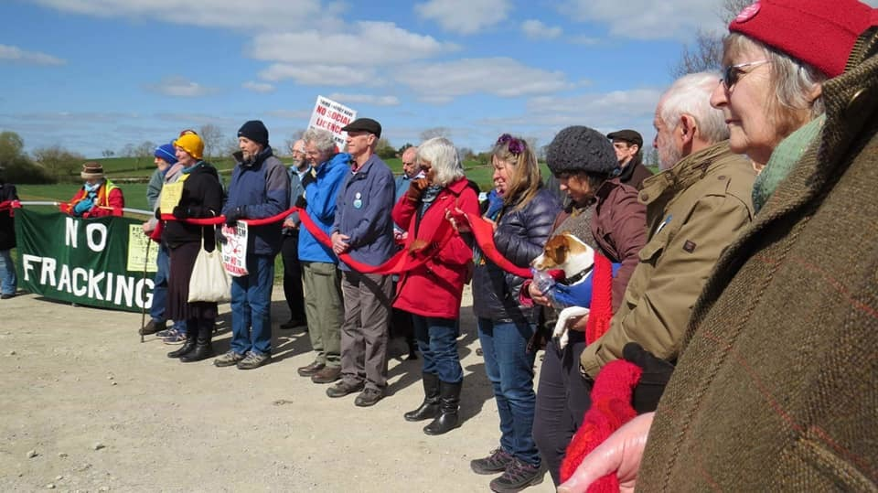 "Anti-fracking campaigners who gathered at Kirby Misperton last Wednesday to mark a ""frack-free"" year and the reopening of a footpath next to the site"