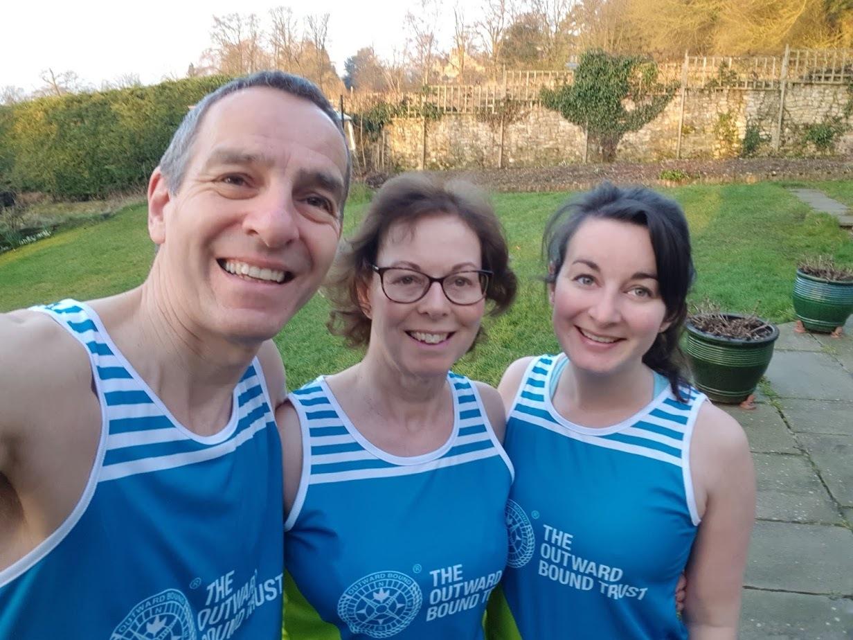 Colin, Pam, and eldest daughter Rachel Garnett who are taking part in the London Marathon this weekend