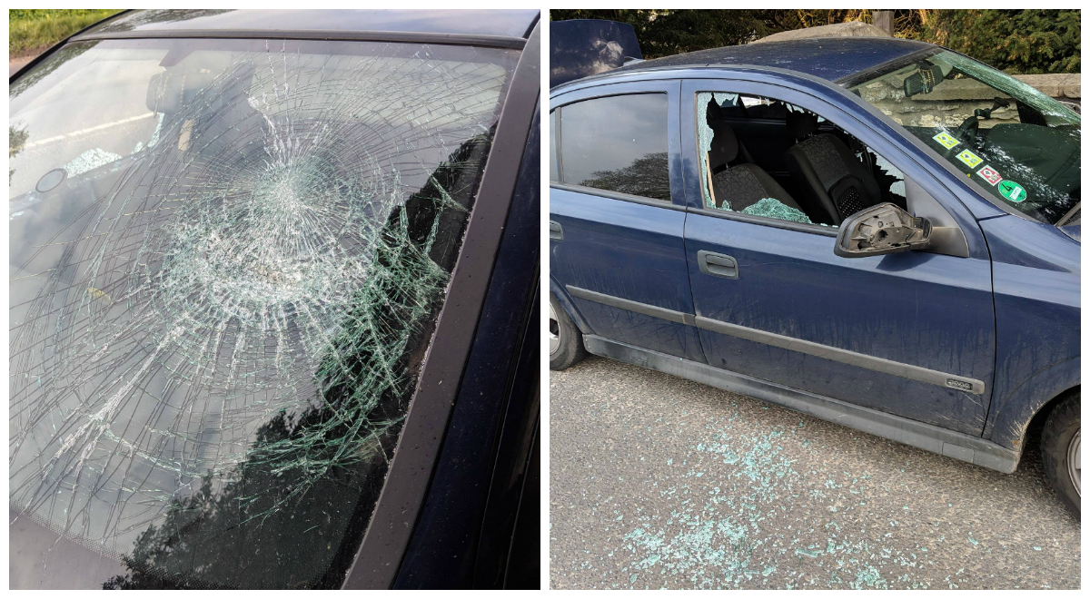 The smashed car. Picture: North Yorkshire Police