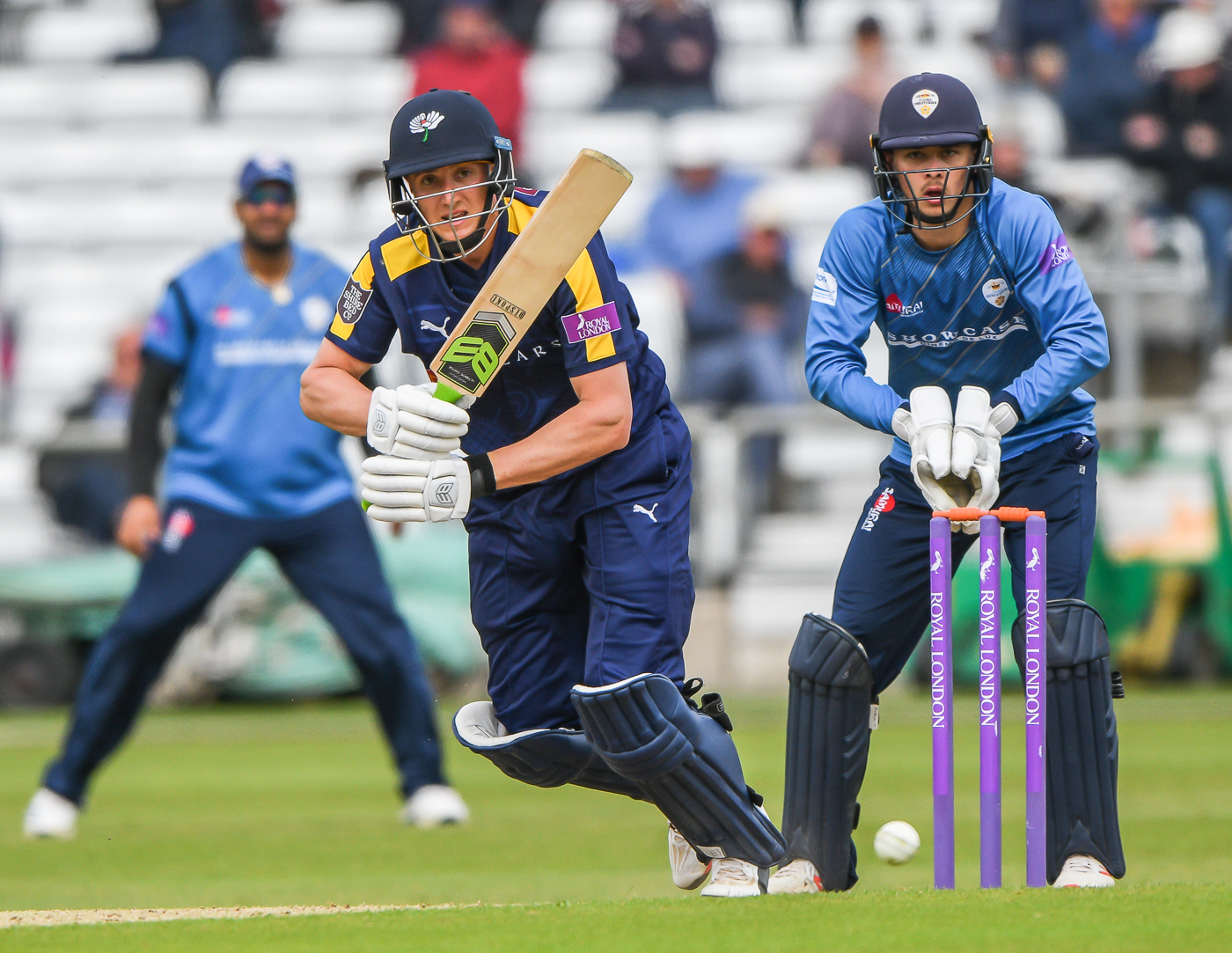 Tom Kohler-Cadmore fired 79 for Yorkshire in their rain-affected clash against Derbyshire in the Royal London One-Day Cup at Headingley. Picture: Ray Spencer