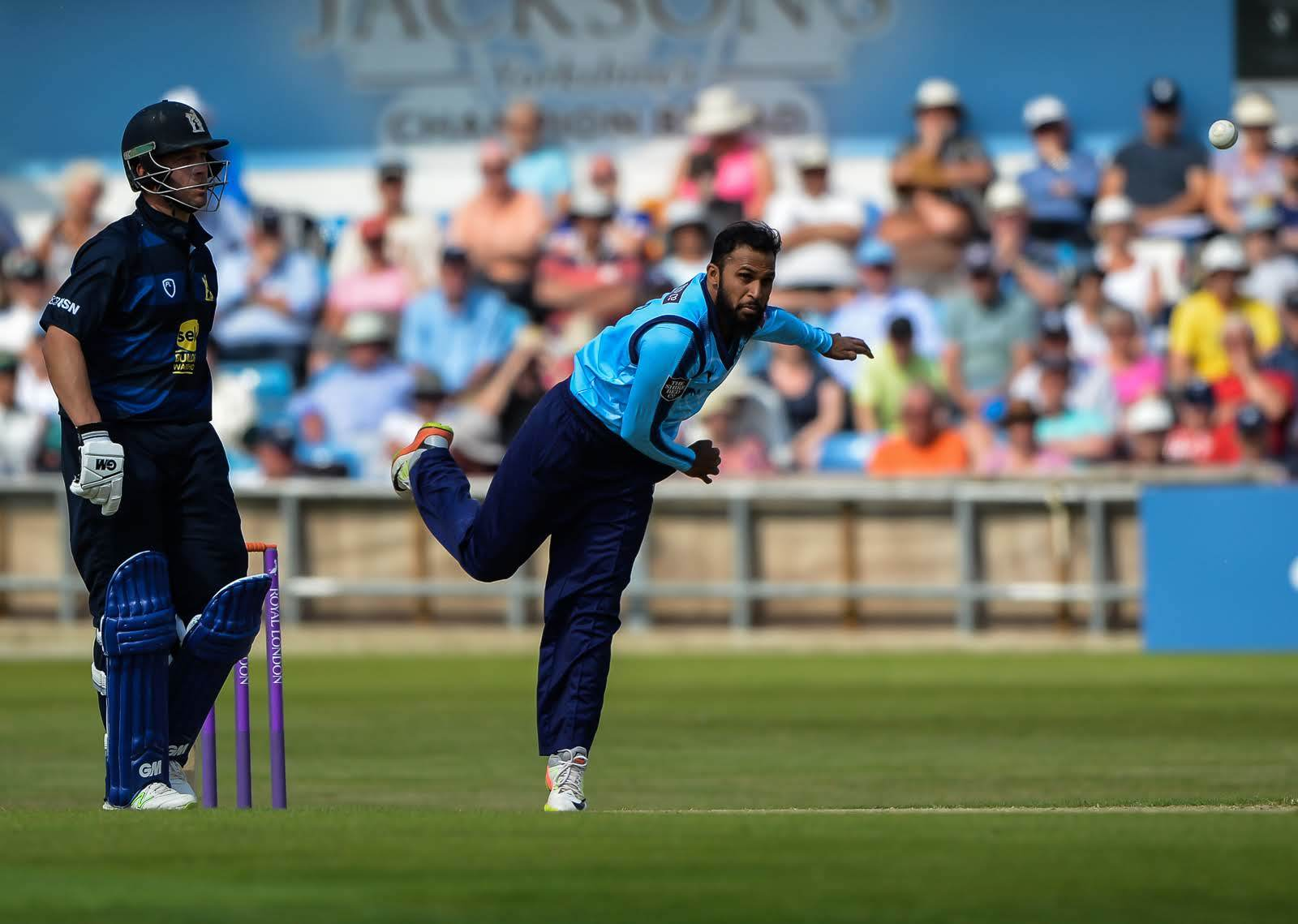 Adil Rashid, who has now departed for England duty - leaving Josh Poysden as Yorkshire's number-one spinner. Picture: Ray Spencer