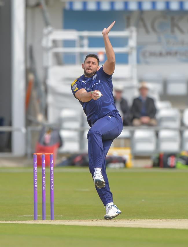 Tim Bresnan finished with 2-19 from seven overs on the opening day against Kent. Picture: Ray Spencer