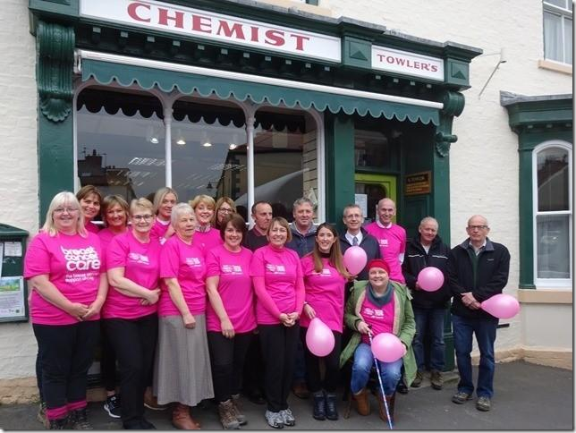 Fundraisers from Towler's Chemist in Kirkbymoorside who are aiming to complete a coastal walk after being inspired by one of their work colleagues battle with cancer