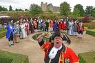 Helmsley town crier David Hinde welcomes competitors for the Magna Carta Trophy in 2018