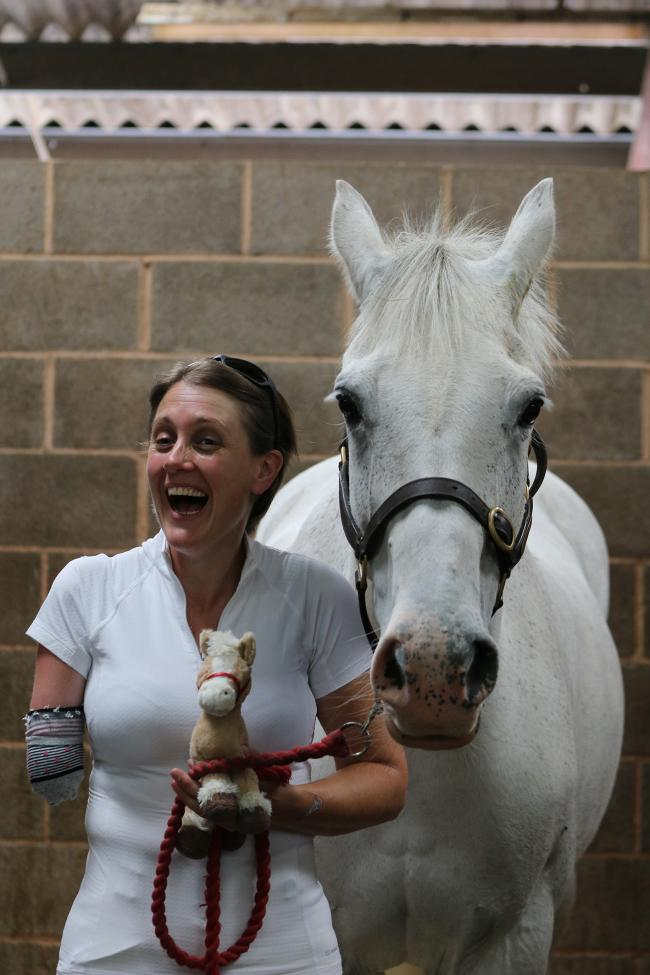 Claire Pope, who is one of the 50 Faces campaign by the Riding for the Disabled Association