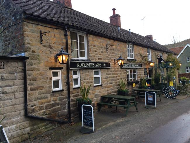 The Blacksmiths Arms at Lastingham, which has been named the 2019 Countryside Alliance Award for best pub in Yorkshire