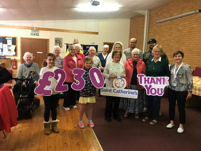 Members of Sherburn Methodist Church who hold regular coffee mornings have been raising money for Saint Catherine